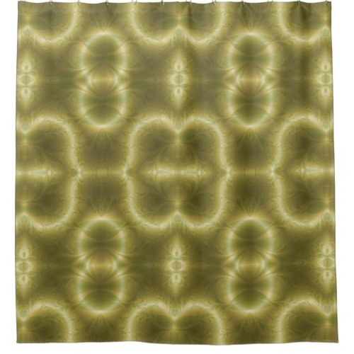Retro Paisley in Green and Gold Shower Curtain