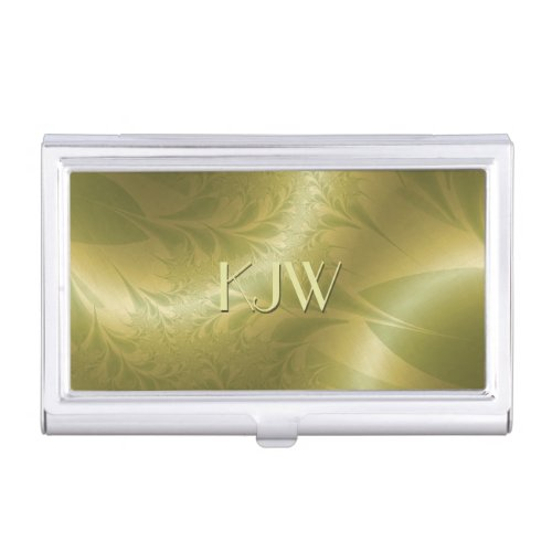 Retro Paisly Monogram Business Card Case