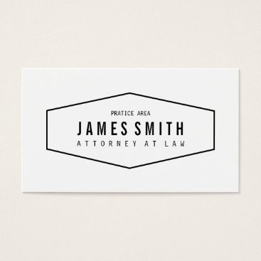 Retro Professional Attorney Business Card