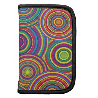 Retro Rainbow Circles Pattern rickshawfolio