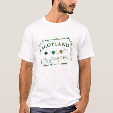 Retro Scotland Postage Seal T-Shirt