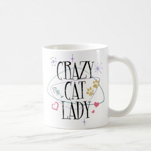 Retro Style Crazy Cat Lady Mug