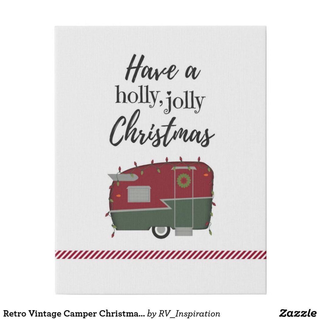 Retro Vintage Camper Christmas Holiday Wall Decor