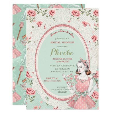Retro Housewife Hen Party Invitation Template