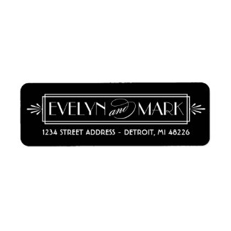 Return Address Labels | Art Deco Style