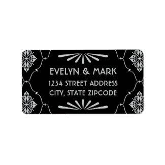 Return Address Labels   Art Deco Style