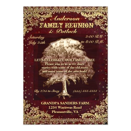 Reunion - Vintage Family Tree Card
