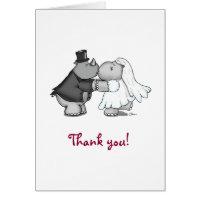 Rhino and Hippo Thank you Greeting Card