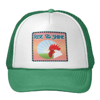 Rise and Shine Rooster Trucker Hats