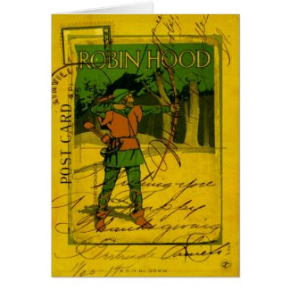Robin Hood, His Bow and Arrow Greeting Card