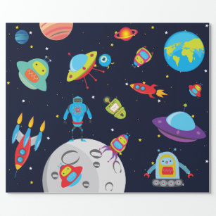Outer Space Wrapping Paper | Zazzle