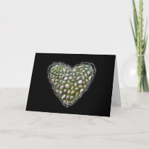 Rock Garden Heart Valentine Love Romance Card