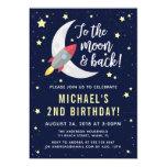 To The Moon & Back Birthday Party Invitation