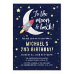 To The Moon & Back Birthday Party Invitation