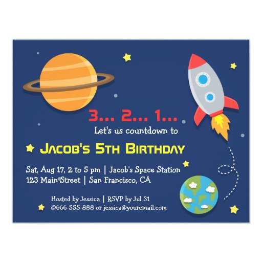 personalized outer space birthday invitations custominvitations4u com