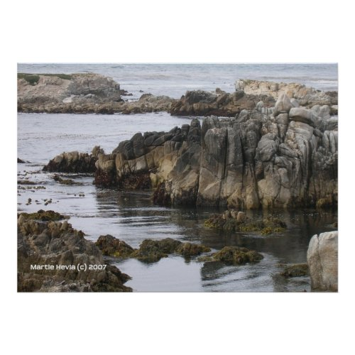 Rocks on the Sea print