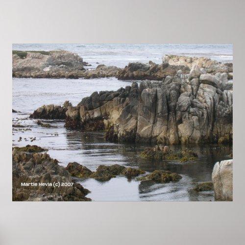 Rocks on the Sea print