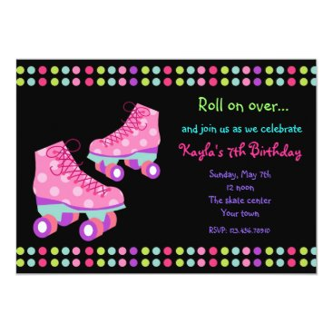 Roller Skates Birthday Party Invitations