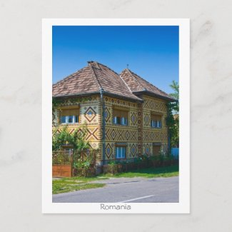 Romanian House Post Card
