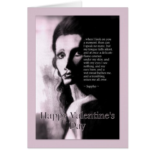 Romantic Happy Valentine's Day For Him Sappho Poem card