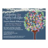 Romantic Lights Whimsical Tree Post Wedding Invite