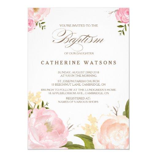 Invitation Card Design Baptism