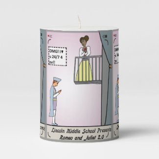 Romeo and Juliet Candle
