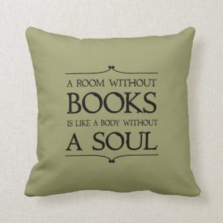 Room Without Books quote Throw Pillows