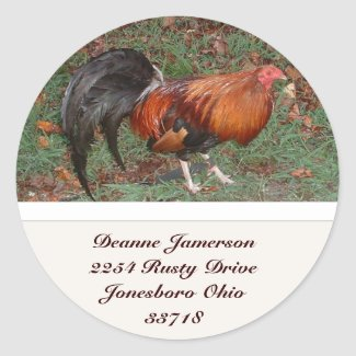 Rooster Address Stickers sticker