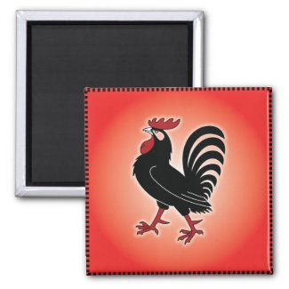 Rooster Attitude Fridge Magnets