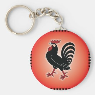 Rooster Attitude Key Chains