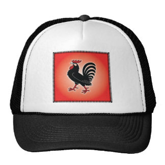 Rooster Attitude Mesh Hats