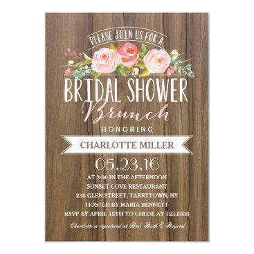 Rose Banner Brunch | Bridal Shower Invitation