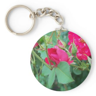 Rose Bud with Water Droplet Keychain