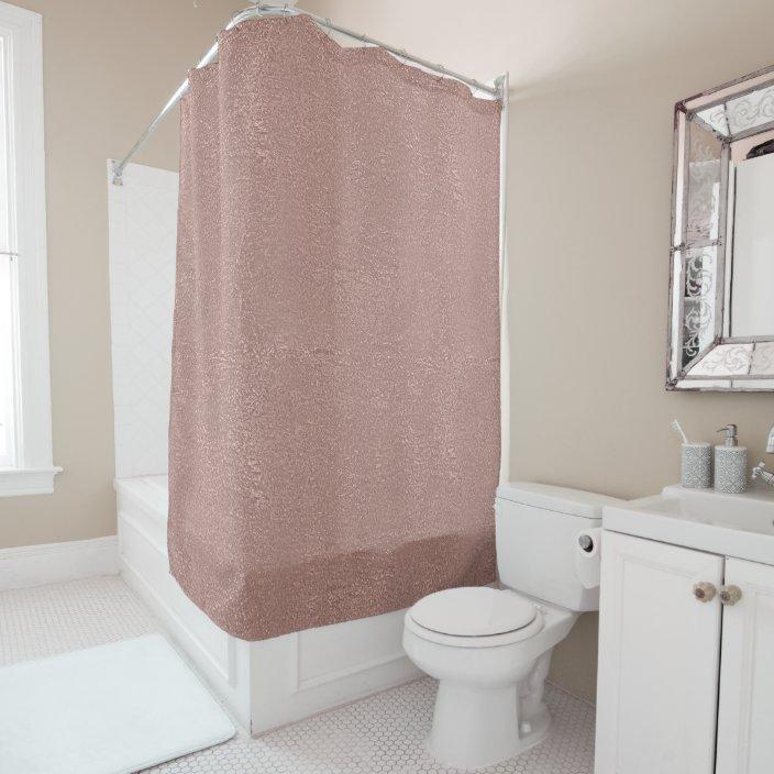 rose gold blush shimmer metallic pink glitter shower curtain zazzle com
