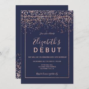 debut birthday invitations zazzle