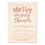 Rose Gold Merry Little Baby Shower Invitation