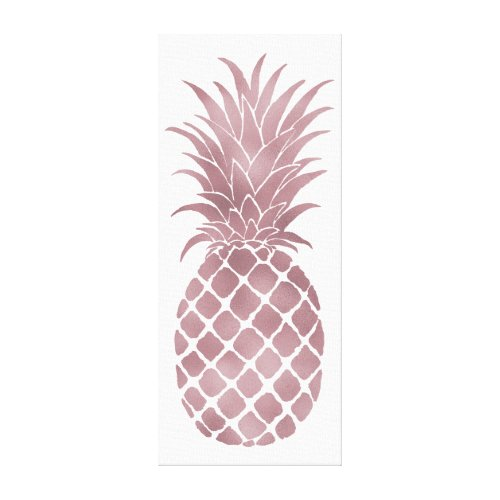 Rose Gold Pineapple Canvas Print
