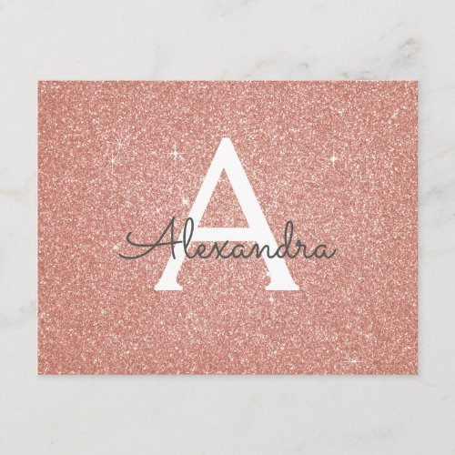 Rose Gold Sparkle Glitter Sweet 16 Save the Date