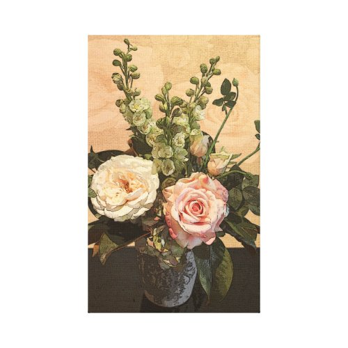 Rose Painting wrappedcanvas