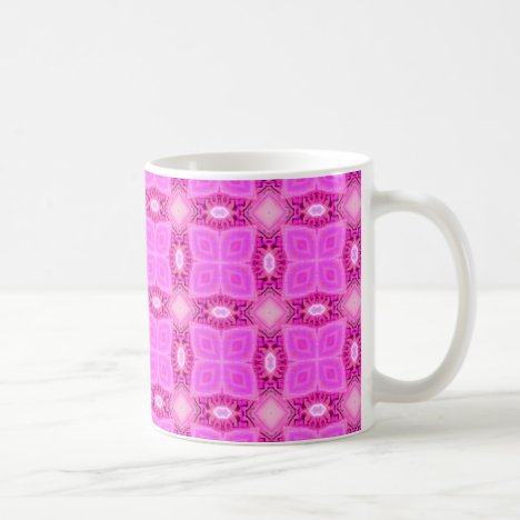 Rose Pink Lattice Modern Hawaiian Quilt Coffee Mug