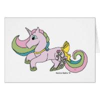 Rosebud The Unicorn Birthday Card