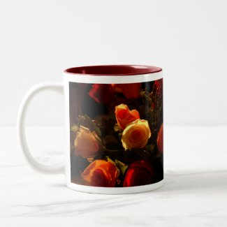 Roses I - Orange, Red and Gold Glory mug