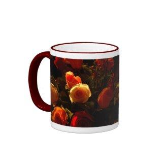 Roses I - Orange, Red and Gold Glory Mugs