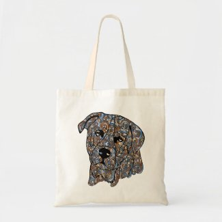 Rottweiler Colored Tote Bag