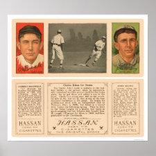 Rounding Third Baseball 1912 Posters