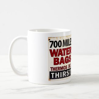 Route 66 - 700 miles desert roadside sign mug
