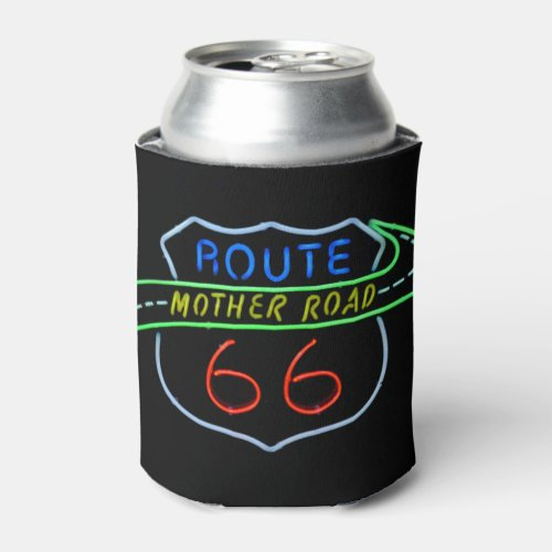 Route 66 Mother Road Neon Sign Can Cooler
