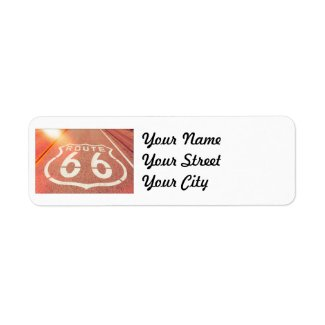 Route 66 Photo Edit - Orange Glow Return Address Label