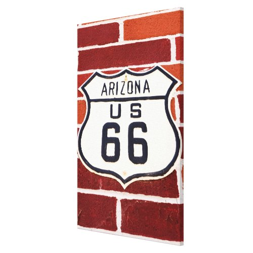 Route 66 Sign On Brick
